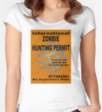Zombie Hunting Permit #2 Women's Fitted Scoop T-Shirt