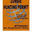 Zombie Hunting Permit #2 by thatstickerguy