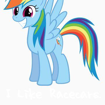 Rainbow Dash I Like Racecars by Chevette