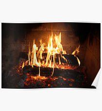 Fireside Glow. Poster