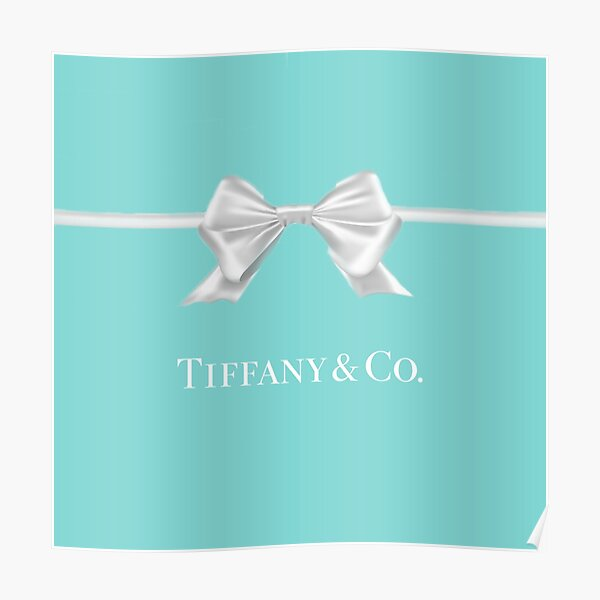 Tiffany Blue Bow Poster