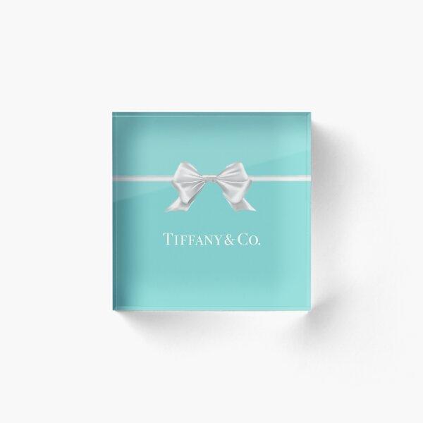Tiffany Blue Bow Acrylblock