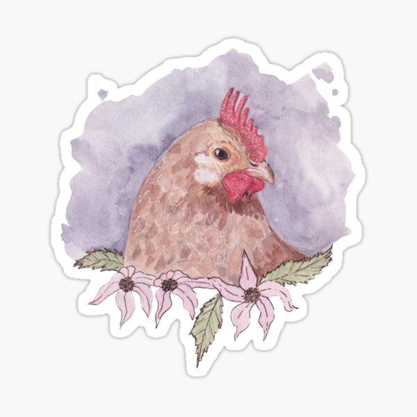 watercolour hen Sticker