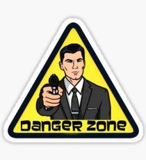 Danger Zone - Archer Sticker