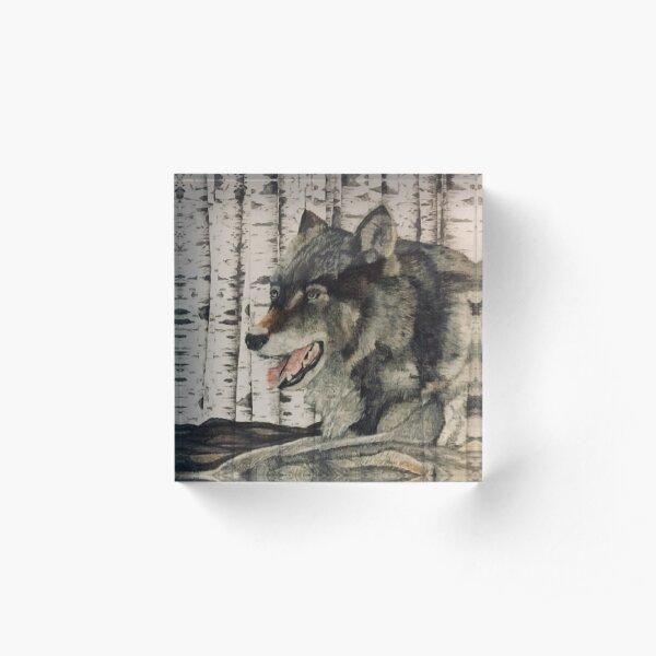 Wolf Acrylic Block