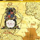 Rotbartsaga Poster (illustrierte Seekarte) by wolfschwerdt