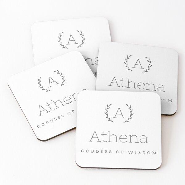 athena goddess of wisdom Coasters (Set of 4)