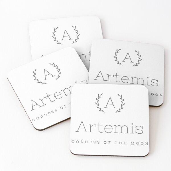Artemis goddess of the moon Coasters (Set of 4)