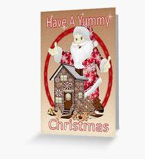 Santa`s Christmas Goodies Greeting Card