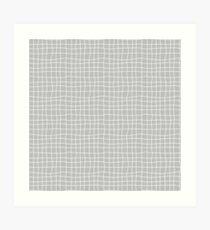 Carreaux - Grey - Bis Art Print