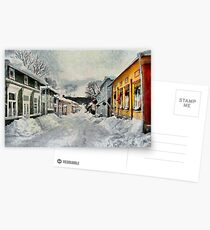 Naantali Old Town in Winter Postcards