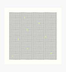 Carreaux - Grey/Green - Bis Art Print