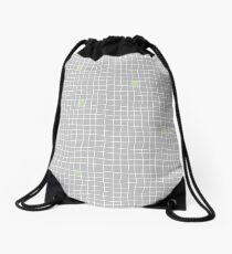 Carreaux - Grey/Green - Bis Drawstring Bag