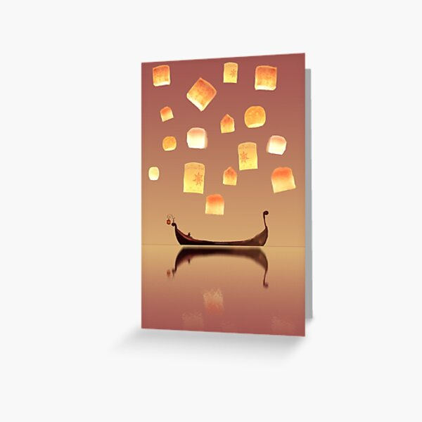 Tangled Lanterns Greeting Card