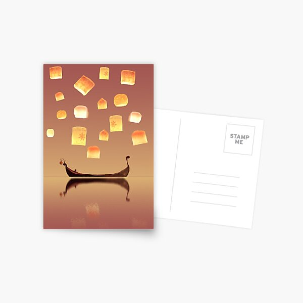 Tangled Lanterns Postcard