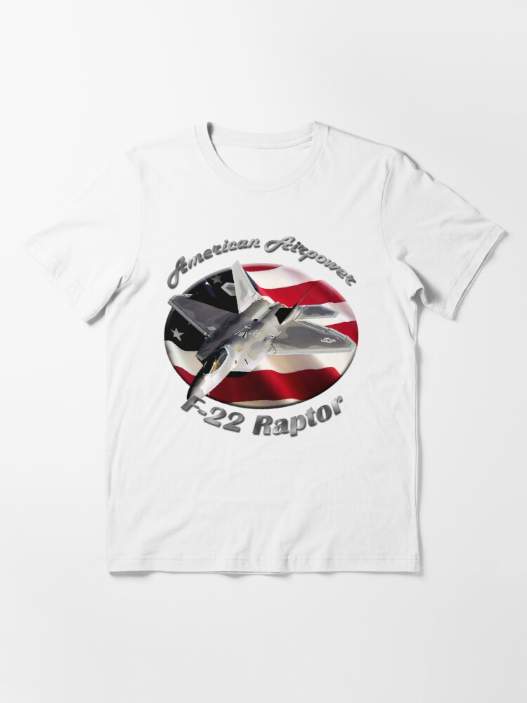 Alternate view of F-22 Raptor American Airpower Essential T-Shirt