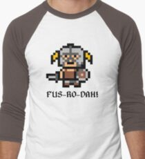 8 Bit Dovahkiin Men's Baseball ¾ T-Shirt