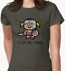 8 Bit Dovahkiin Womens Fitted T-Shirt