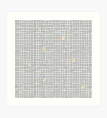 Carreaux - Grey/Yellow - Bis Art Print