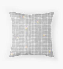 Carreaux - Grey/Yellow - Bis Throw Pillow