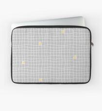 Carreaux - Grey/Yellow - Bis Laptop Sleeve
