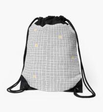 Carreaux - Grey/Yellow - Bis Drawstring Bag