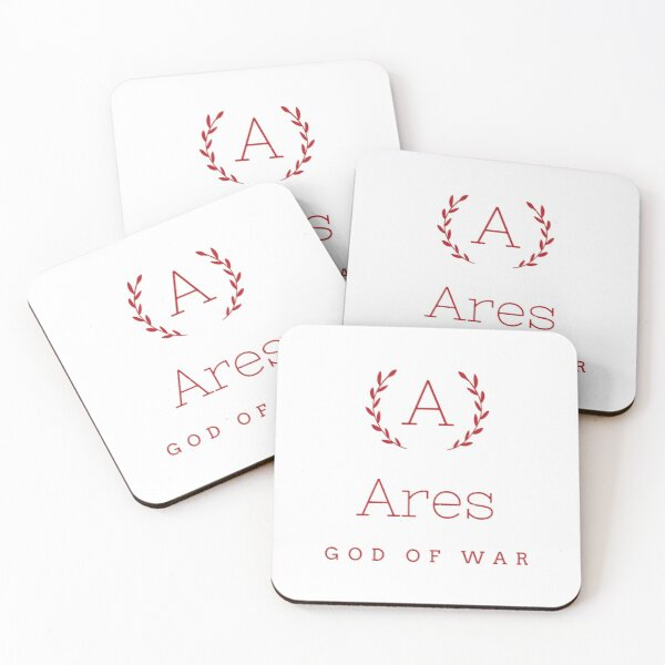 Ares god of war Coasters (Set of 4)