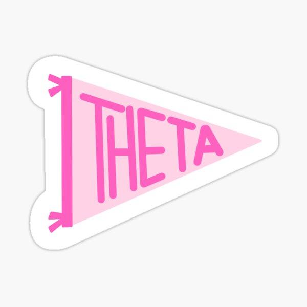 Theta flag Sticker