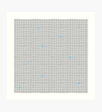 Carreaux - Grey/Blue - Bis Art Print