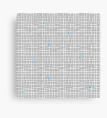 Carreaux - Grey/Blue - Bis Canvas Print
