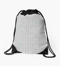 Carreaux - Grey/Blue - Bis Drawstring Bag
