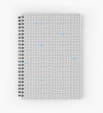 Carreaux - Grey/Blue - Bis Spiral Notebook