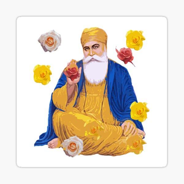 Roses and the Guru Sticker