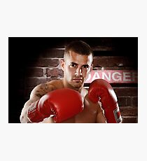 Fighter in boxing gloves art photo print Photographic Print