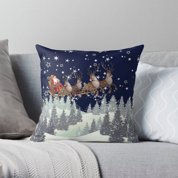 happy christmas, merry christmas,present gift idea Throw Pillow