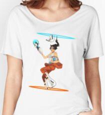 Portal 2 fanart  Women's Relaxed Fit T-Shirt