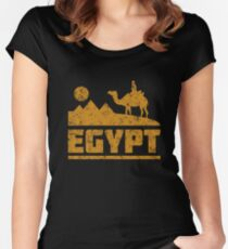 Egypt Pyramids and Camel Women's Fitted Scoop T-Shirt