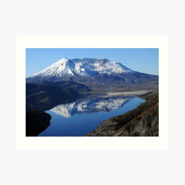 Mt St Helens & Spirit Lake Reflection_9236_101913 Art Print