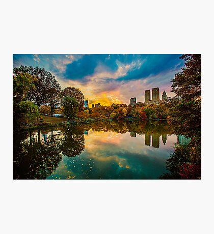 Autumn Sunset From Bow Bridge Photographic Print
