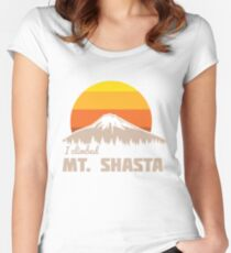 I climbed Mt. Shasta Women's Fitted Scoop T-Shirt