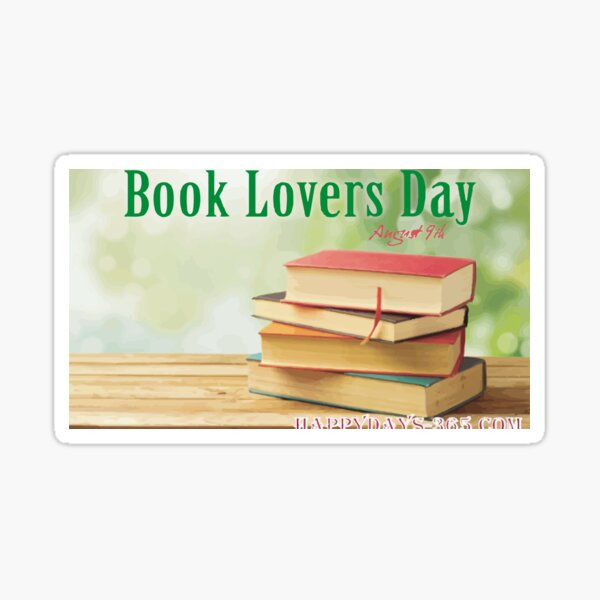National Book Lovers Day  Sticker