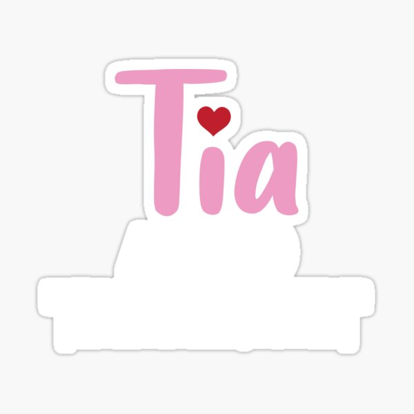 Tia Mom only cooler Aunt Family Love Sticker