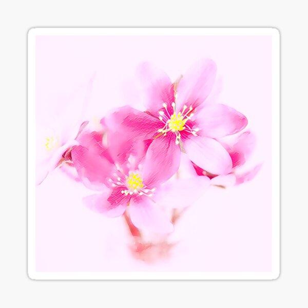 Pink delicate flowers Sticker