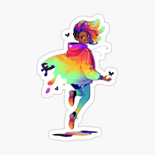 Rainbow T-ShirtRaincoat T-Shirt Sticker