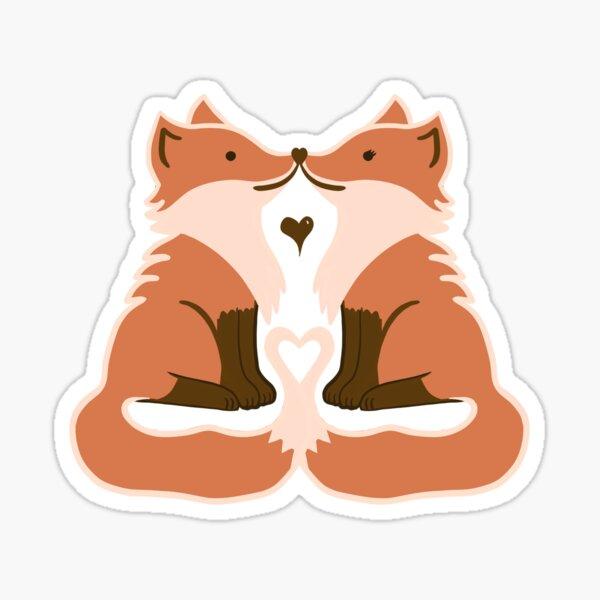 Love Fox Sticker