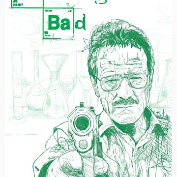 walter white gun breaking bad by rbslave1