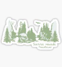 Sierra Nevada Mtns Sticker