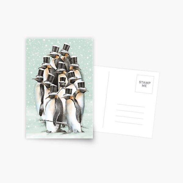 A Gathering in the Snow Postcard