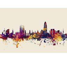 Barcelona Spain Skyline Photographic Print