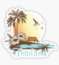 Thailand Beach Scene Sticker